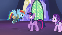 Rainbow excited to have a mission with Twilight S6E24