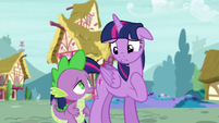 Twilight apologizes to Spike S5E3