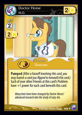 File:Doctor Horse, M.D. card MLP CCG.png