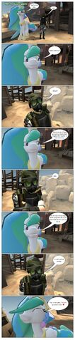 File:FANMADE Gmod Comic Celestia plays silly joke on Adrian Shephard.jpg