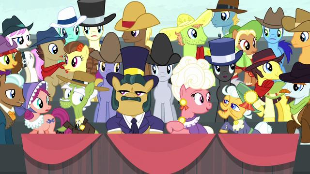 File:Spectator ponies consider Apple Bloom's words S5E6.png