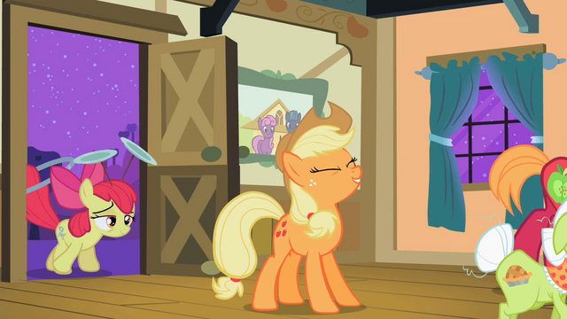 File:Applejack 'Yee-haa, little sis!' S2E06.png
