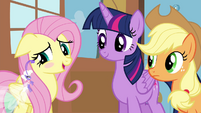 "Fluttershy blushing ""I'd rather not say"" S4E16"