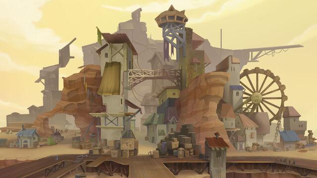 File:MLP The Movie background art - Rundown city.jpg
