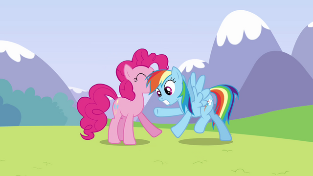 File:Pinkie Pie releases Rainbow S3E7.png