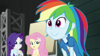 Rainbow Dash with a wide excited smile EGS2