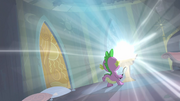 Spike observing the comic book glowing S4E06.png