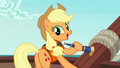 Applejack smiling to her friends S6E22.png