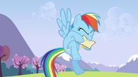 Rainbow biting letter S3E7