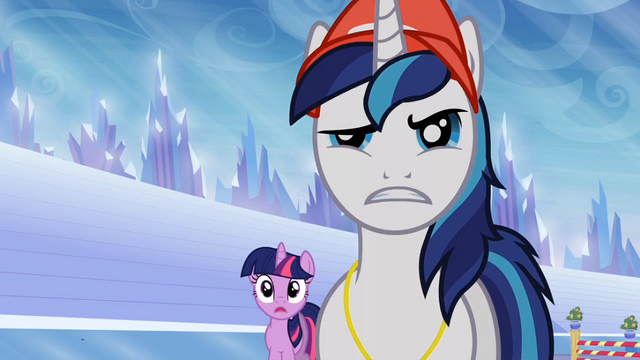 File:Shining Armor and Twilight Sparkle looking at Ms. Peachbottom S03E12.png
