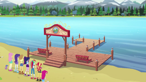 The Camp Everfree dock is repaired again EG4