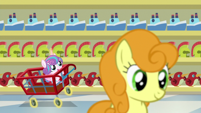 File:Flurry Heart riding a cart down the store aisle S7E3.png