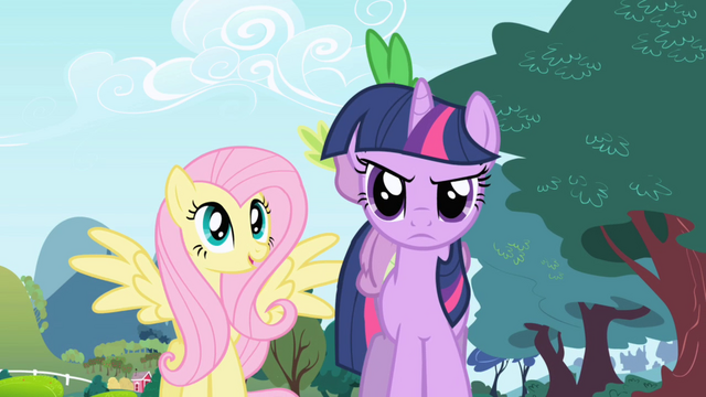 File:Fluttershy interested and Twilight annoyed S1E1.png