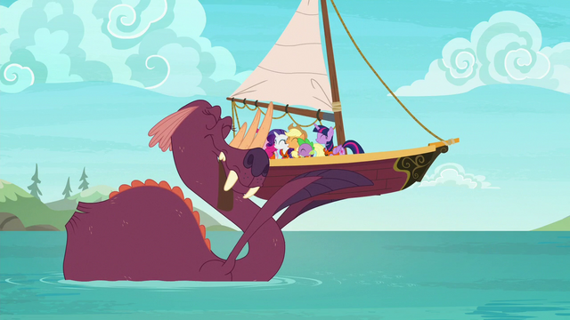 File:Ponies and tri-horned bunyip group hug S6E22.png