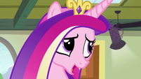 "Princess Cadance ""covered in mashed peas by now"" S7E3"