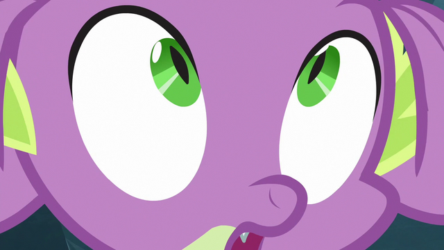 File:Spike feels something grab his tail S6E16.png