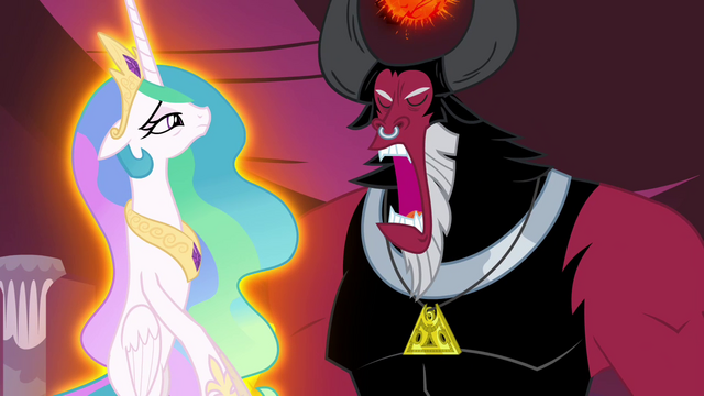 File:Tirek trying to suck out Celestia's magic S4E26.png