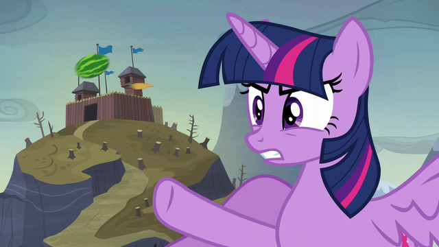"File:Twilight ""you planted ponies in that cake?!"" S5E23.png"