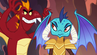 Garble menacing Princess Ember S6E5