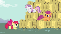 CMC bouncing onto bales 1 S2E17