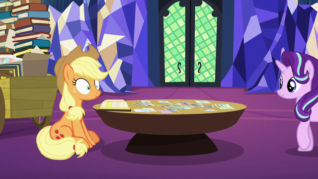 File:Starlight Glimmer approaches Applejack S6E21.png