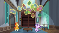 Sunburst levitating books S5E26