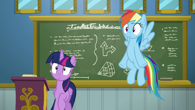 File:Twilight and Rainbow hear Sky Stinger groan S6E24.png