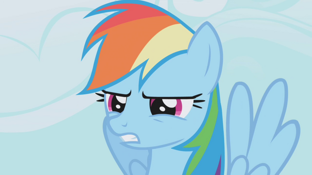 File:Rainbow Dash squinting into the distance S1E04.png