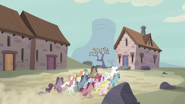 File:Unmarked villagers race toward the vault S5E2.png