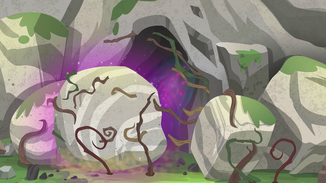 File:Boulder splits the cave-blocking vines EG4.png