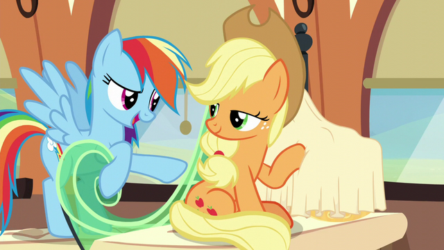 "File:Rainbow Dash ""what is that?"" S6E1.png"
