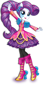 Rarity Rainbow Rocks character bio art 2