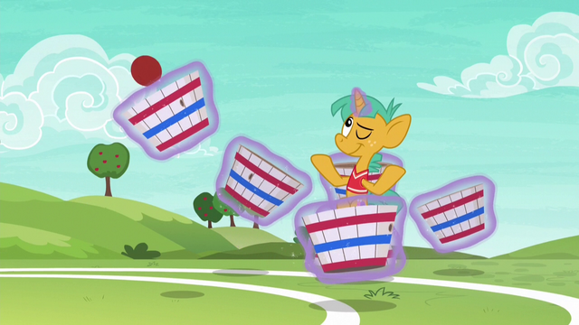 File:Snails effortlessly catches Fluttershy's ball S6E18.png