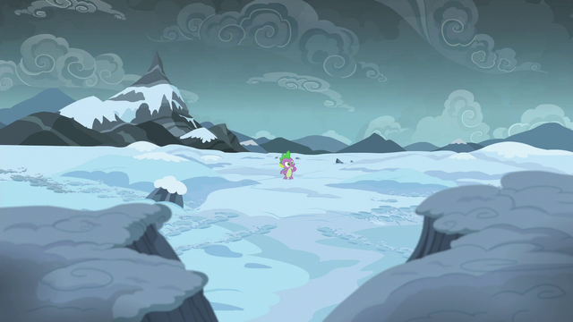 File:Spike alone in the Arctic Wastes S6E16.png