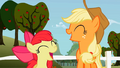 Applejack and Apple Bloom laughing S2E12.png