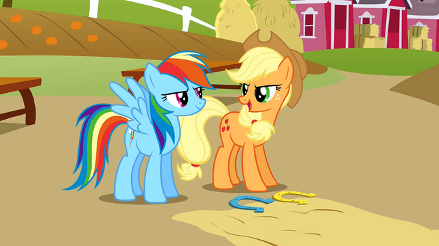File:Applejack and Rainbow competitive S1E13.png