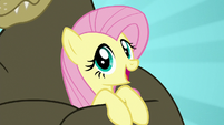 "Fluttershy sings ""the warm hug of a fuzzy bear"" S7E2"