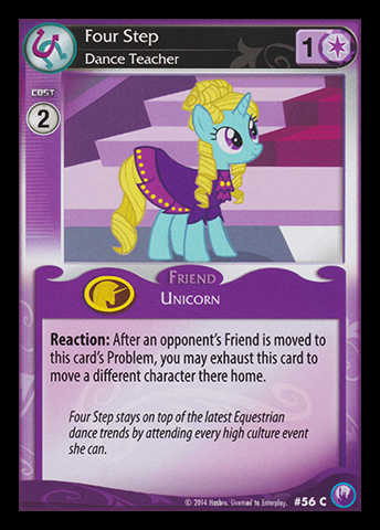 File:Four Step, Dance Teacher card MLP CCG.jpg