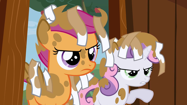 File:Dirty Scootaloo and Sweetie Belle S2E23.png