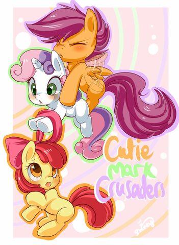 File:FANMADE Cutie Mark Crusaders by Shineymagic.jpg