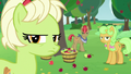 Granny and Apples glaring at the Pear family S7E13.png