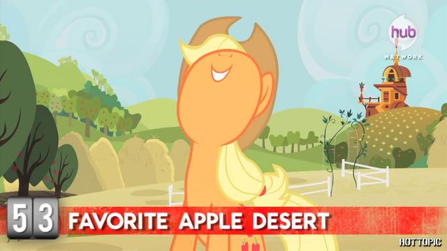 "File:Hot Minute with Applejack ""de-lish!"".png"