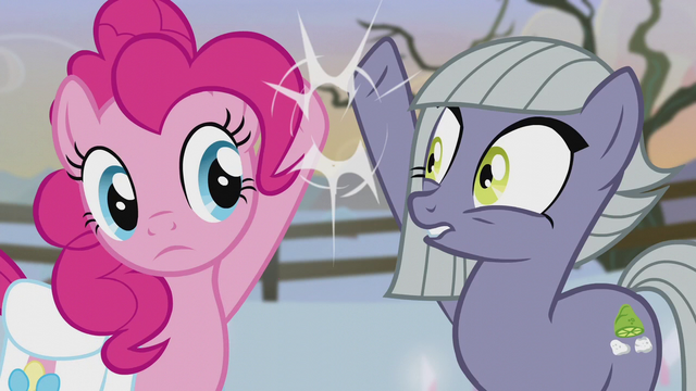 File:Limestone slaps Pinkie's hoof away S5E20.png