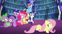 Rest of the Mane Six look at each other S5E21