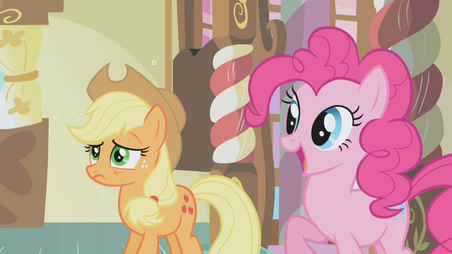 File:Applejack and Pinkie Pie S01E04.png