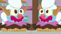 Giant clown-shaped ice cream sundaes S7E6.png