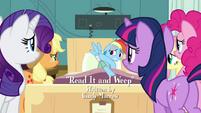 Main 5 surrounding Rainbow Dash's hospital bed S2E16