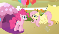 Pinkie Pie & Fluttershy talking S2E15