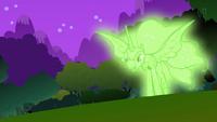 Иллюзия Лунной пони, созданная Зекорой