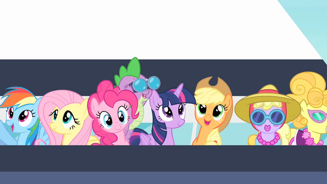 File:Rarity's friends on a ferry S4E08.png